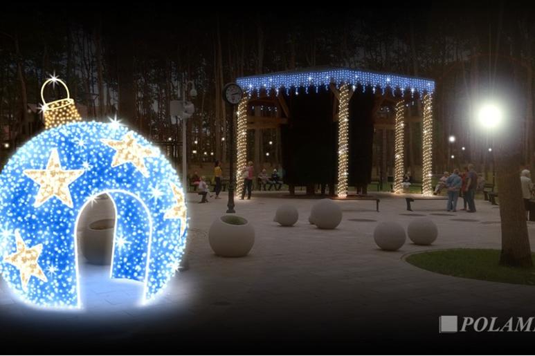 Legionowo świąteczne Oświetlenie Na Ulicach Wielka Bombka
