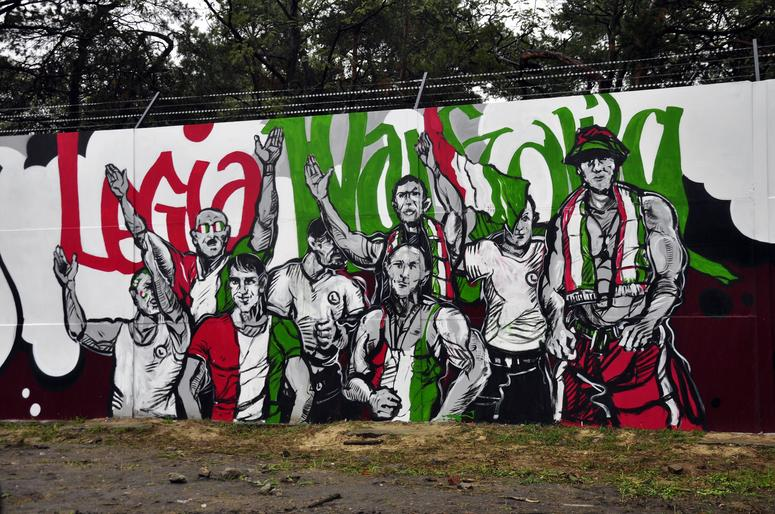Legionowo barwy legii warszawa na muralu to spe nienie for Mural legionowo