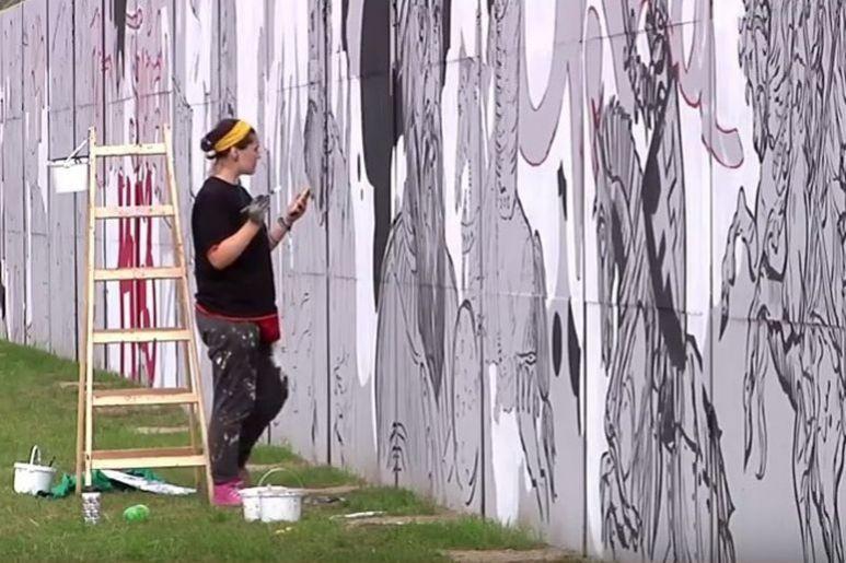 Legionowo ogl daj jak powstaje najd u szy w kraju mural for Mural legionowo