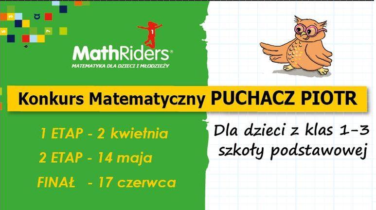 Konkurs Matematyczny Puchacz Piotr Ruszyły Zgłoszenia